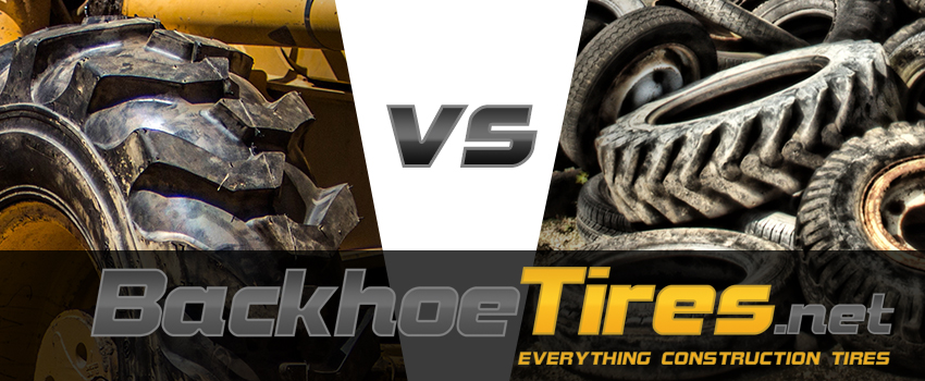 New Vs Used Backhoe Tires